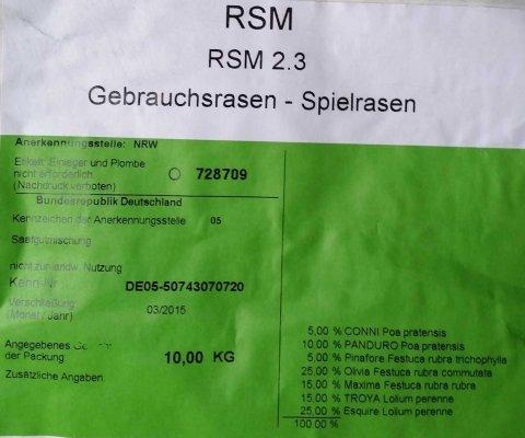 rsm 2 3 gebrauchsrasen sport und spielrasen 10 kg 91015 heinrichs agrar. Black Bedroom Furniture Sets. Home Design Ideas